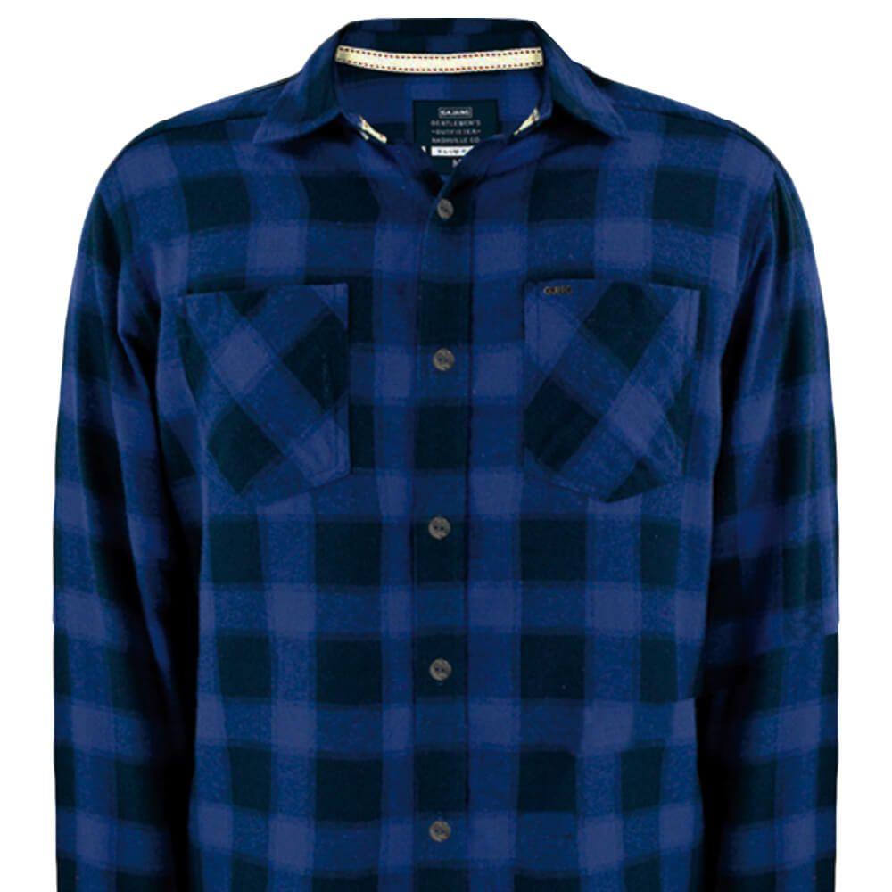 Camisa Masculina Xadrez Ransom Azul