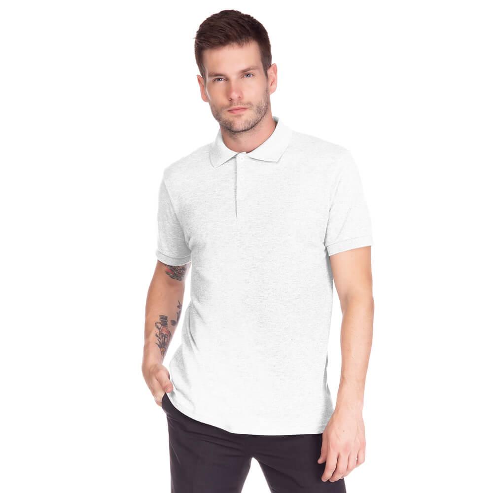 Camisa Polo Masculina Básica Branca