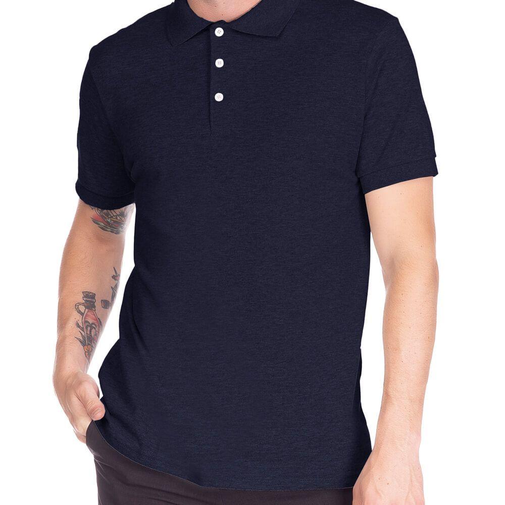 Camisa Polo Masculina Básica Marinho