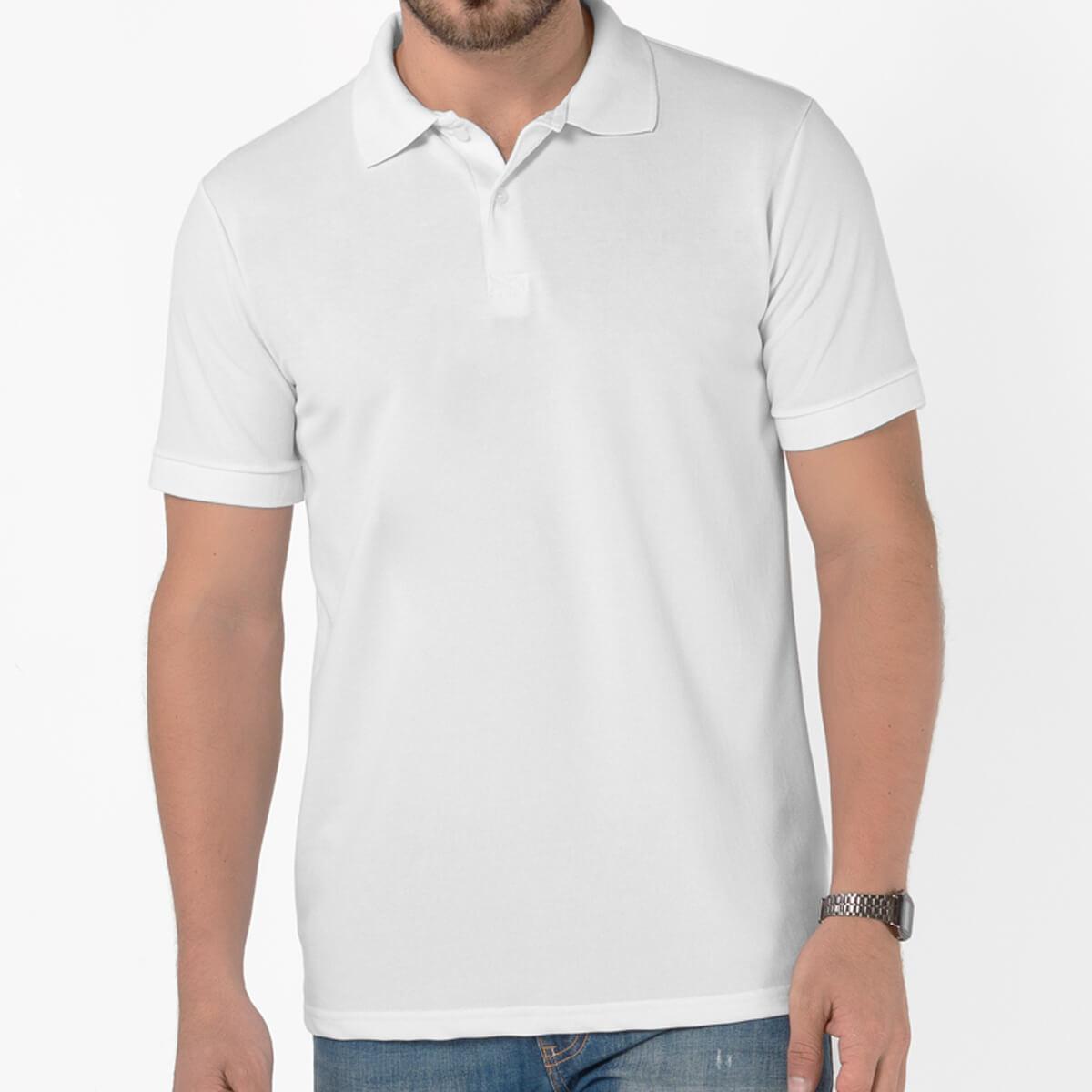 Camisa Polo Masculina Básica Piquet Comfort Branca