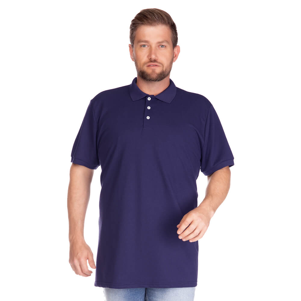 Camisa Polo Masculina Básica Plus Marinho