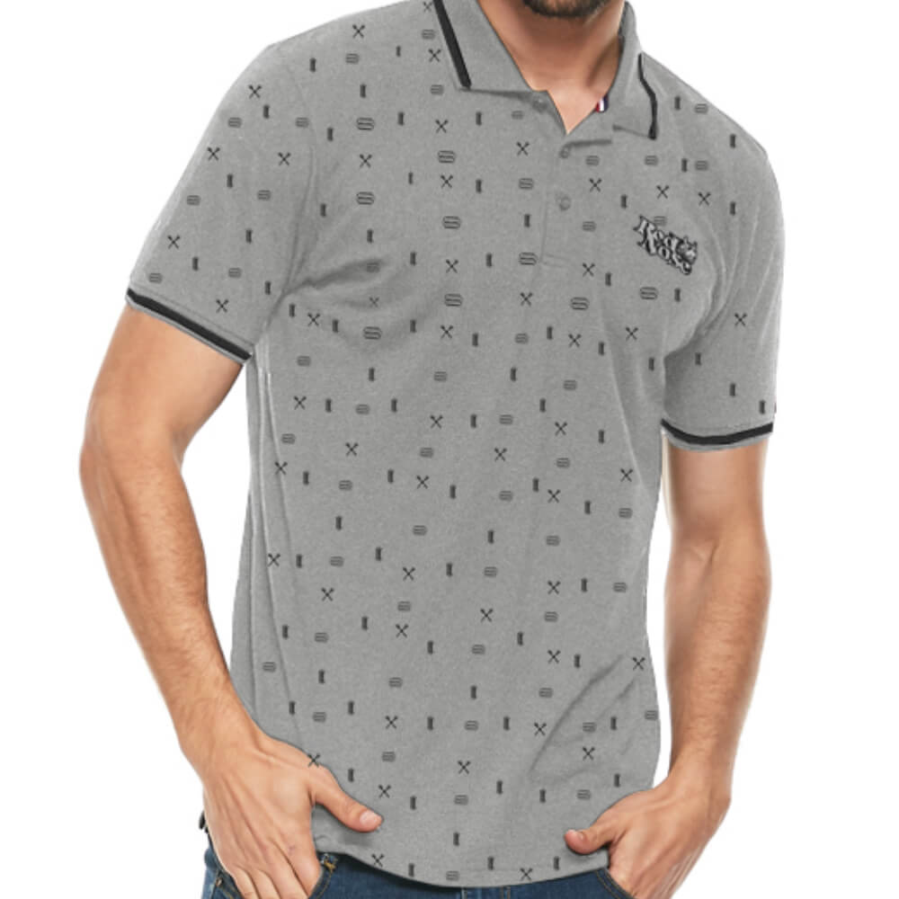 Camisa Polo Red Nose Barber Cinza