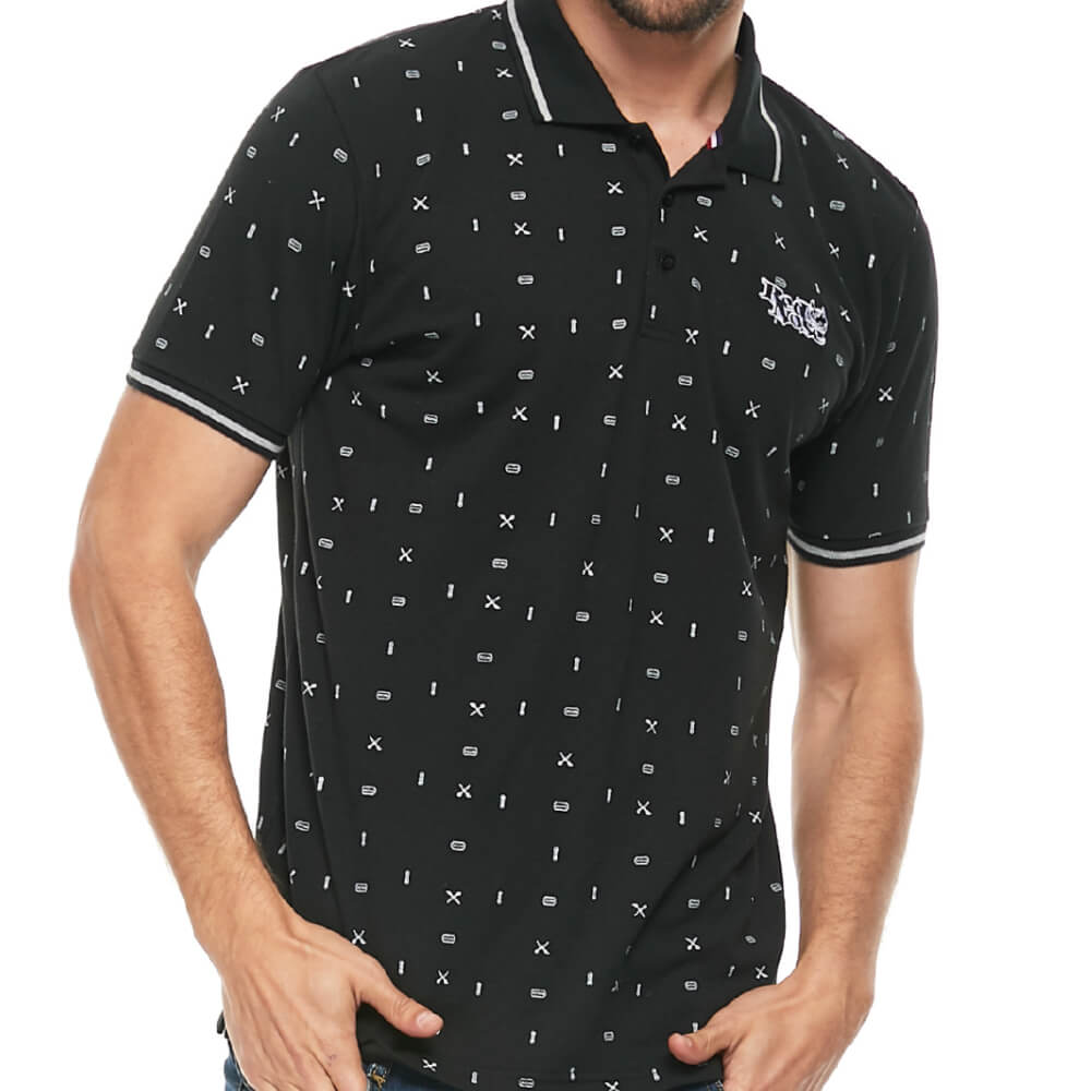 Camisa Polo Red Nose Barber Preta