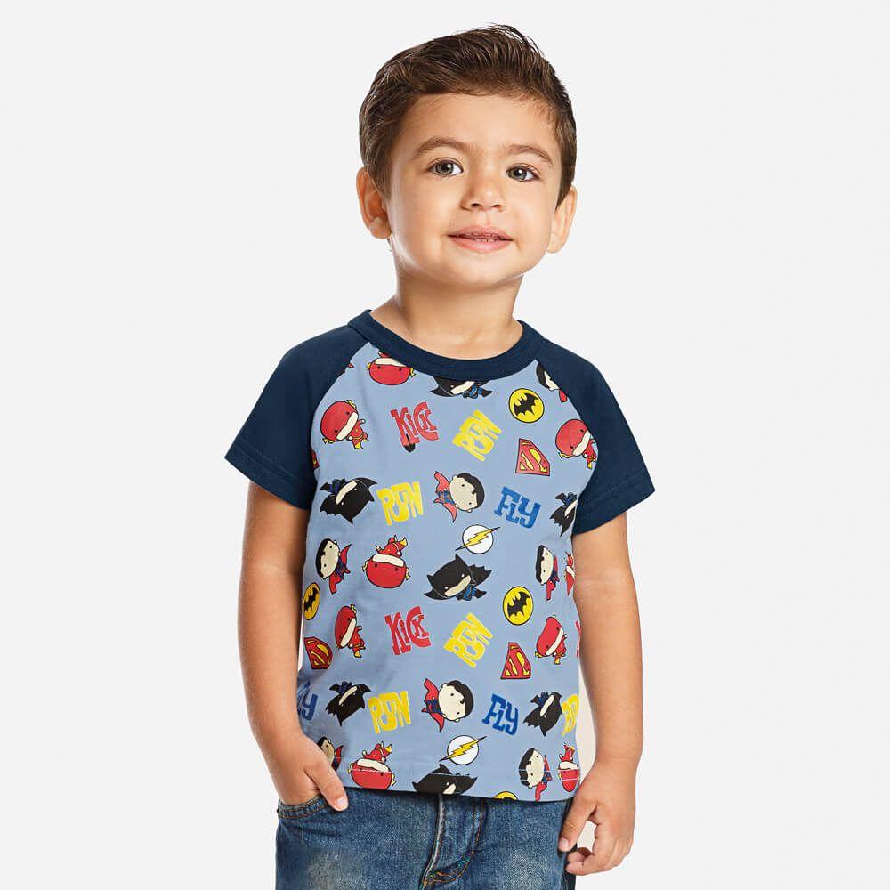 Camiseta Bebê Menino Liga da Justiça