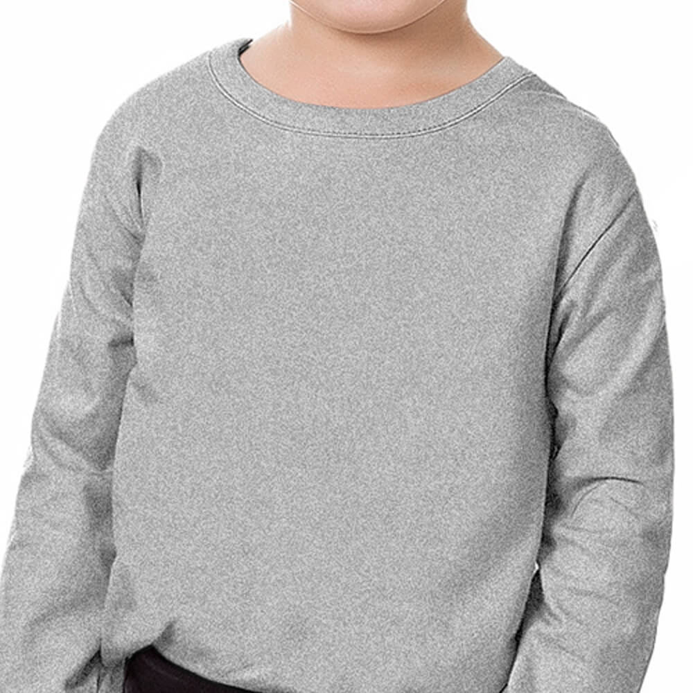 Camiseta Bebê Menino Manga Longa Básica Cinza
