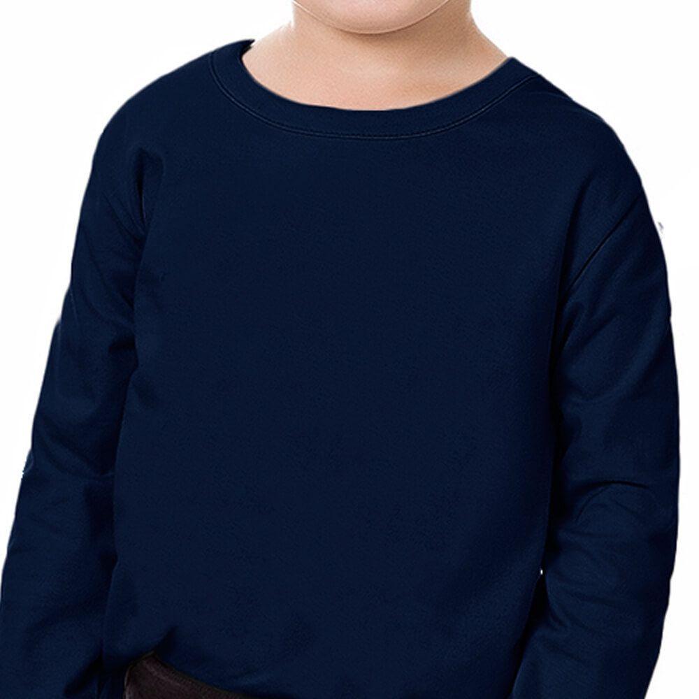 Camiseta Bebê Menino Manga Longa Básica Marinho