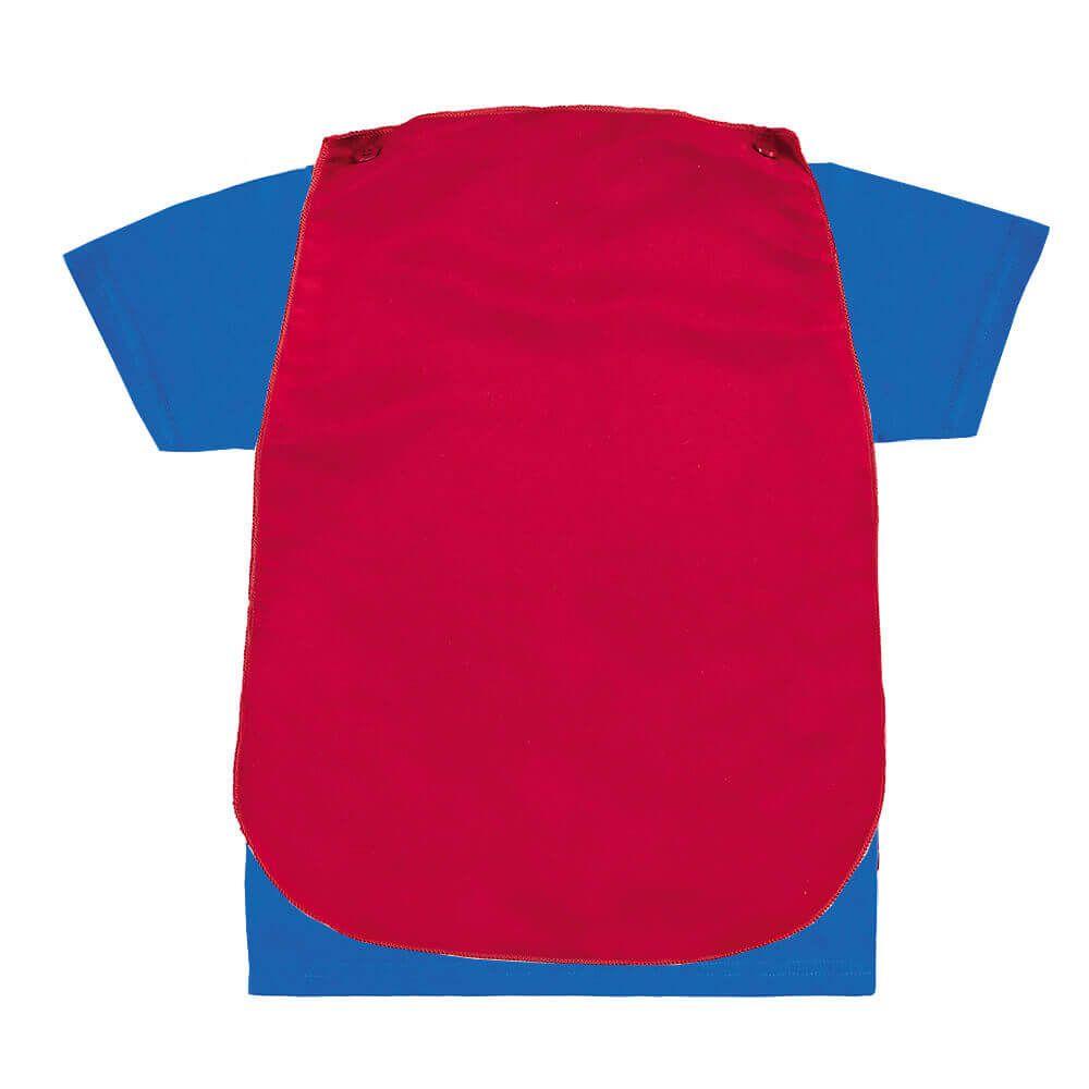 Camiseta Bebe Menino Super Homem com Capa
