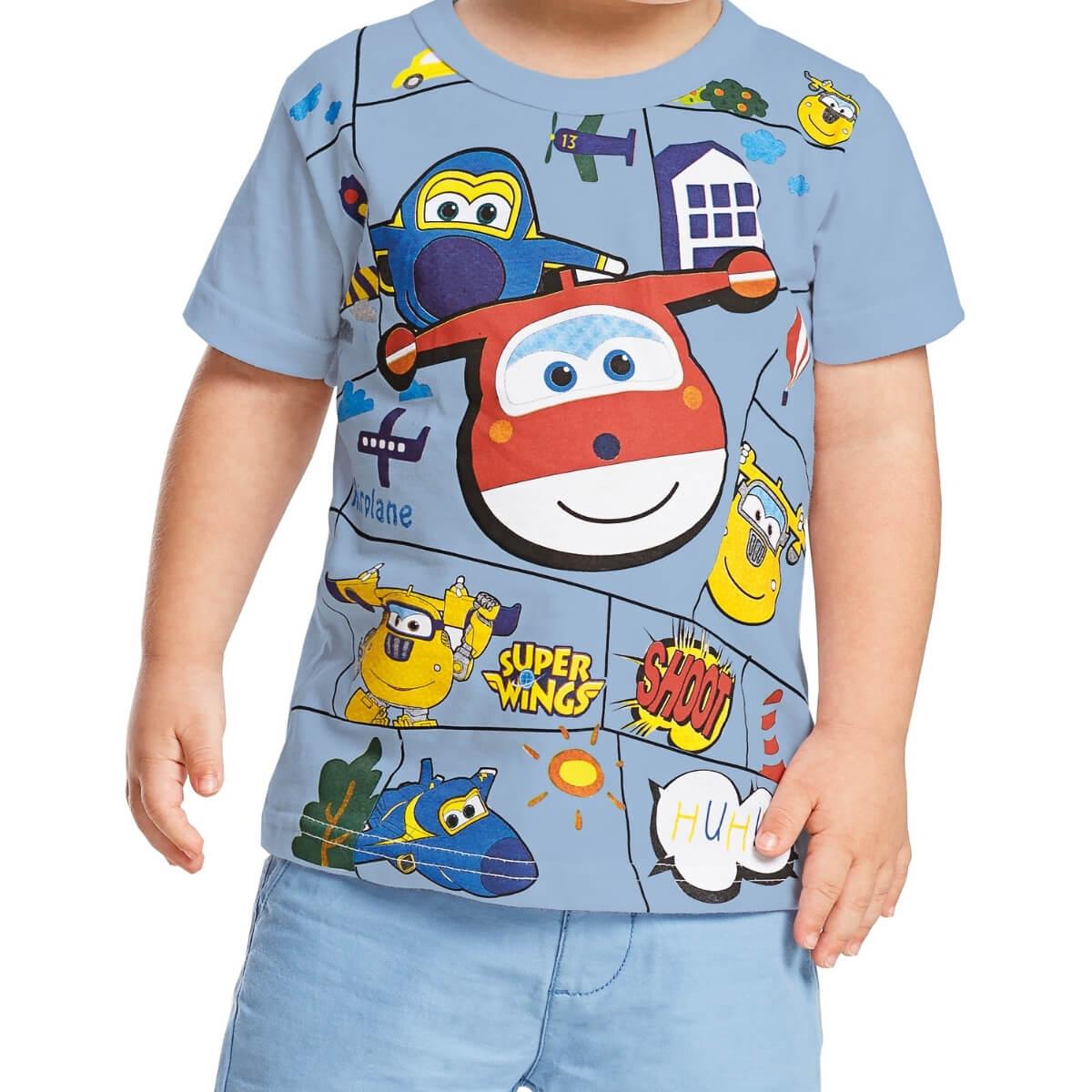 Camiseta Bebê Menino Super Wings