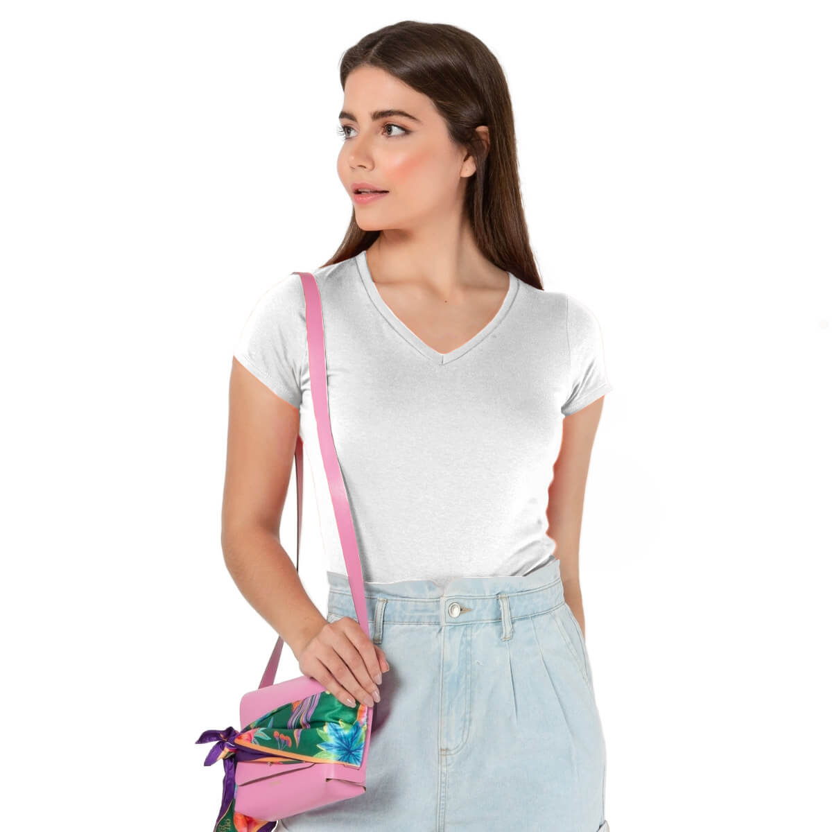 Camiseta Feminina Básica Premium Branca