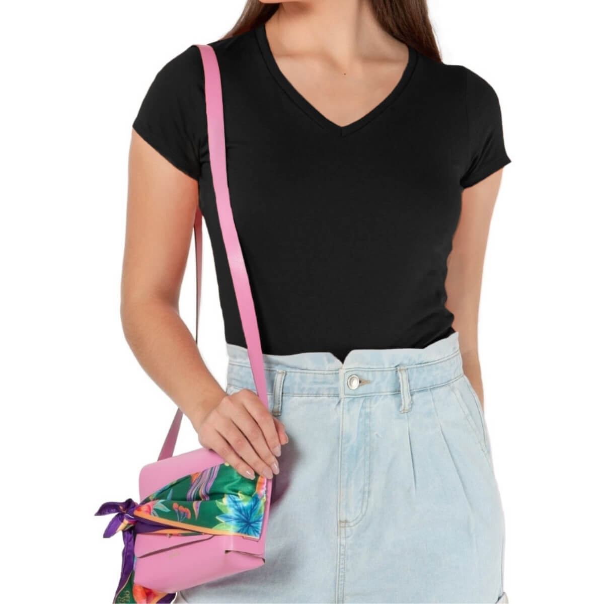 Camiseta Feminina Básica Premium Preta
