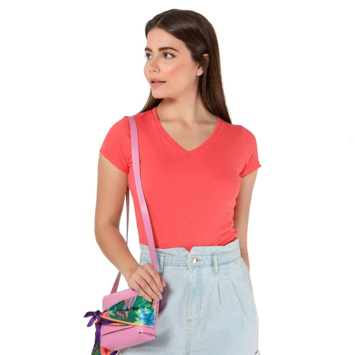 Camiseta Feminina Básica Premium Rosa