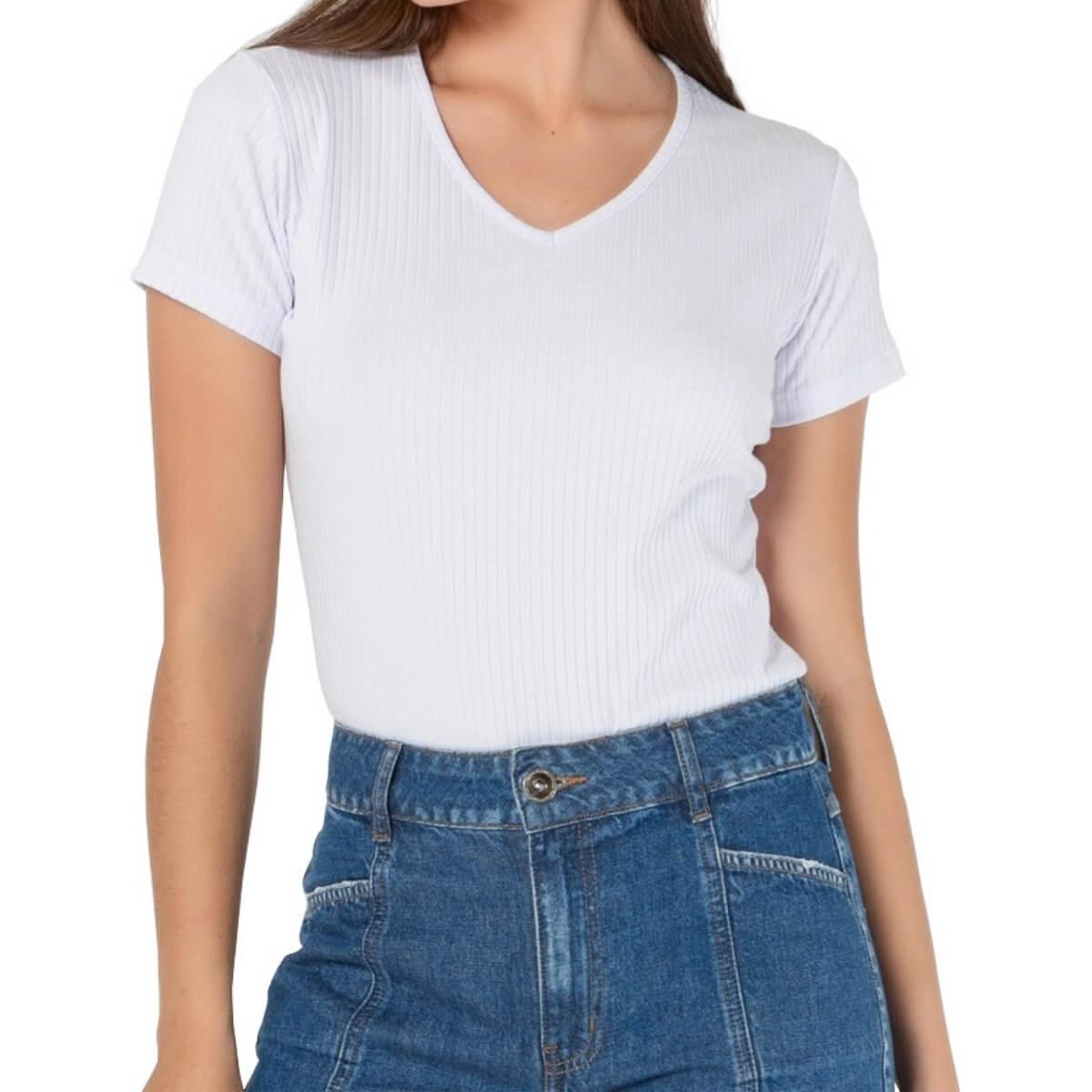 Camiseta Feminina Ribana Premium Branca