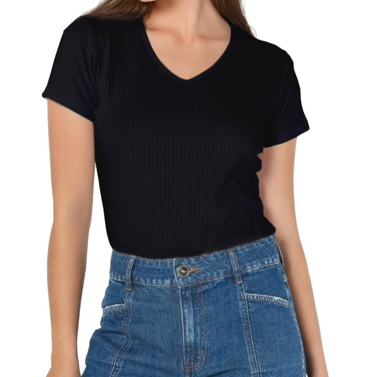 Camiseta Feminina Ribana Premium Preta