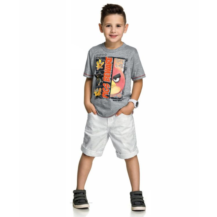 Camiseta Infantil Angry Birds