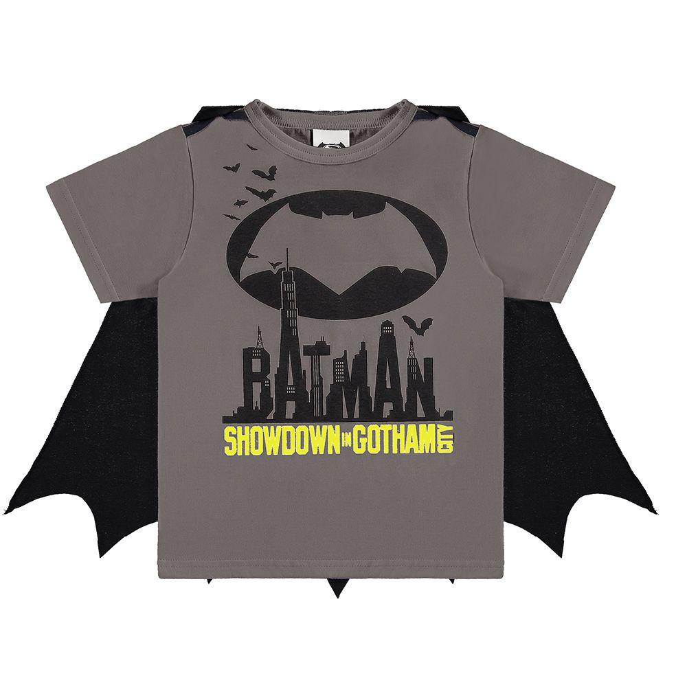 Camiseta Infantil Batman C/ Capa
