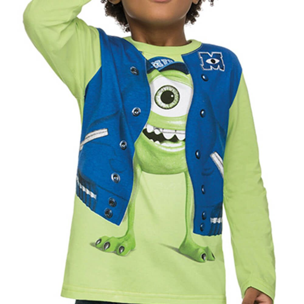 Camiseta Infantil Manga Longa Monstros S.A. Universidade Verde