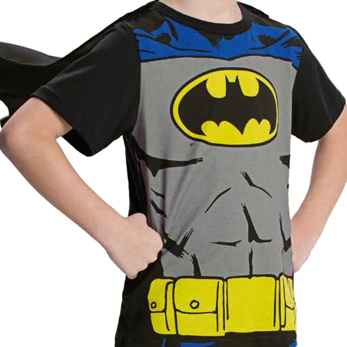 Camiseta Infantil Menino Batman com Capa
