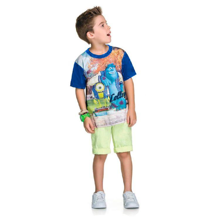 56f123fb923bf1 Camiseta Infantil Monstros S.A.