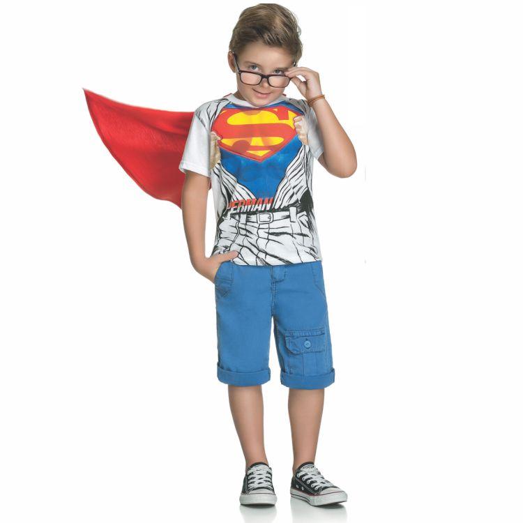 Camiseta Infantil Super Homem Capa