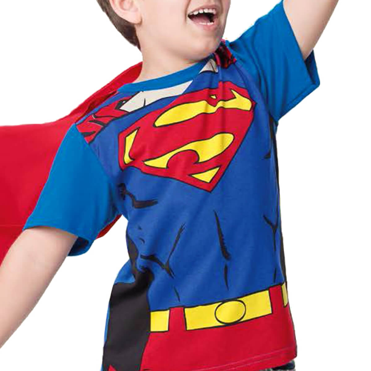 Camiseta Infantil Super Homem com Capa