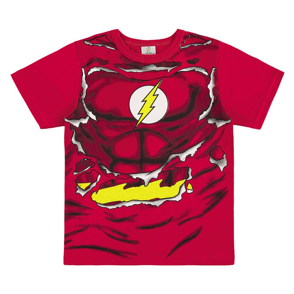 Camiseta Infantil The Flash C/ Máscara