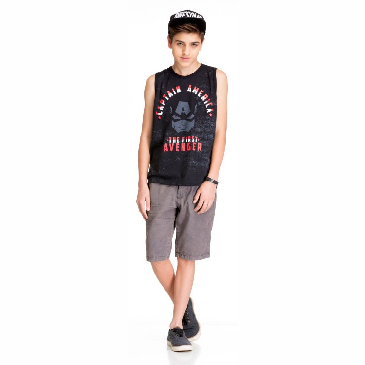Camiseta Juvenil Vingadores Regata