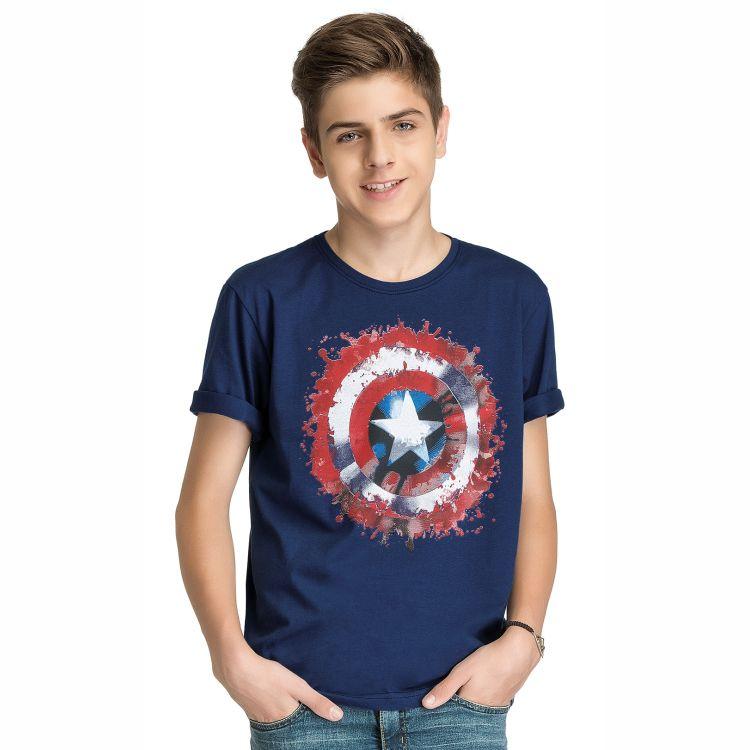 Camiseta Juvenil Capitão América Escudo