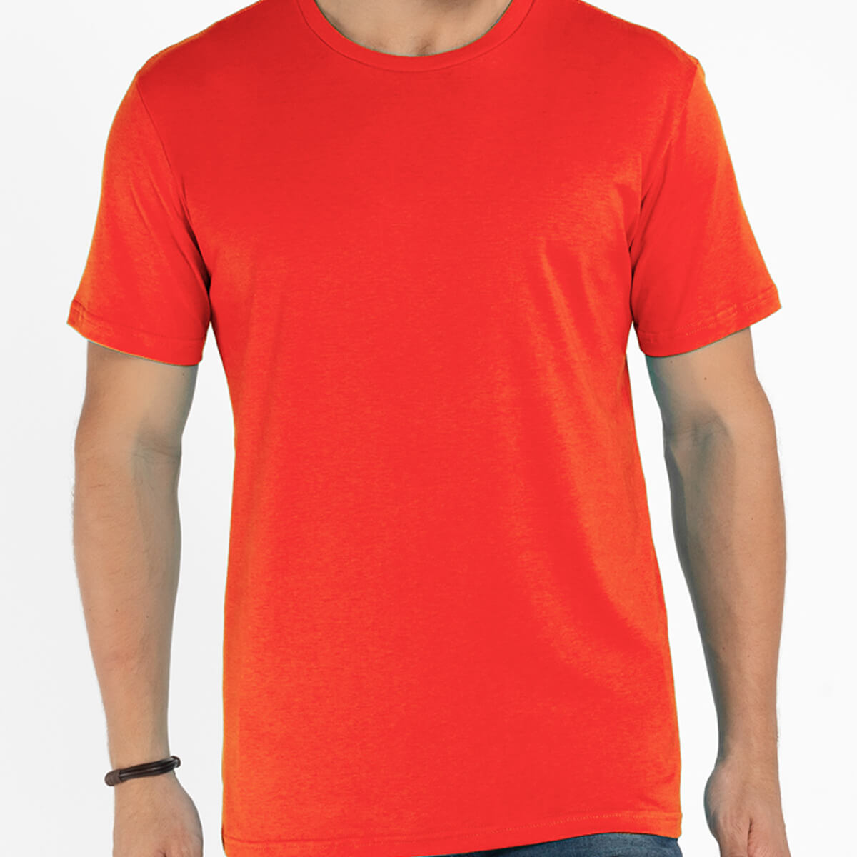 Camiseta Masculina Básica Comfort Laranja