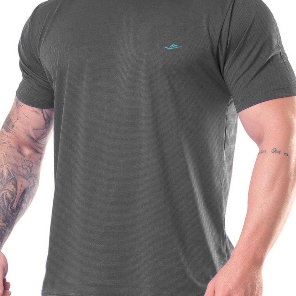 Camiseta Masculina Básica Dryline Chumbo