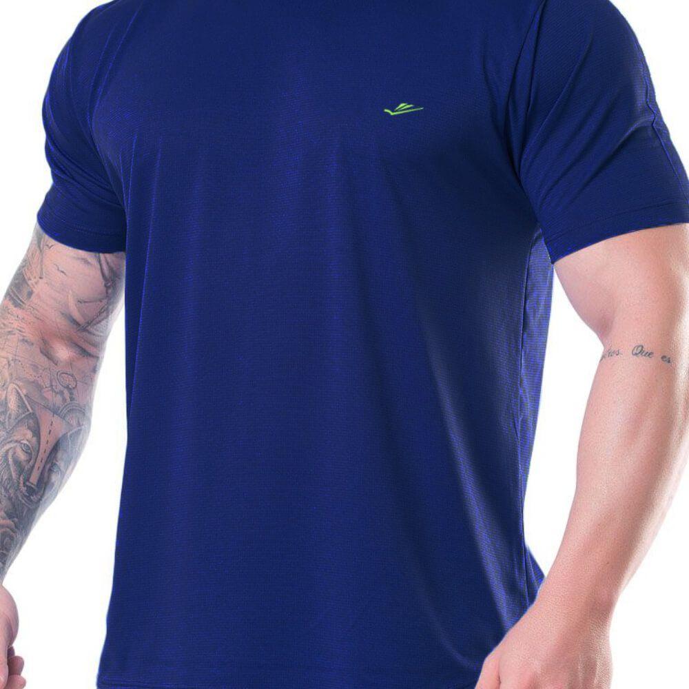 Camiseta Masculina Básica Dryline Marinho