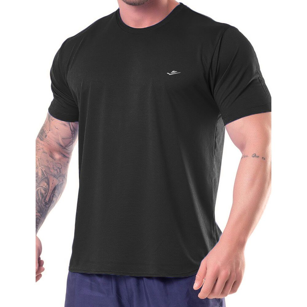 Camiseta Masculina Básica Dryline Preta
