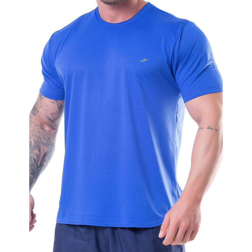 Camiseta Masculina Básica Dryline Royal