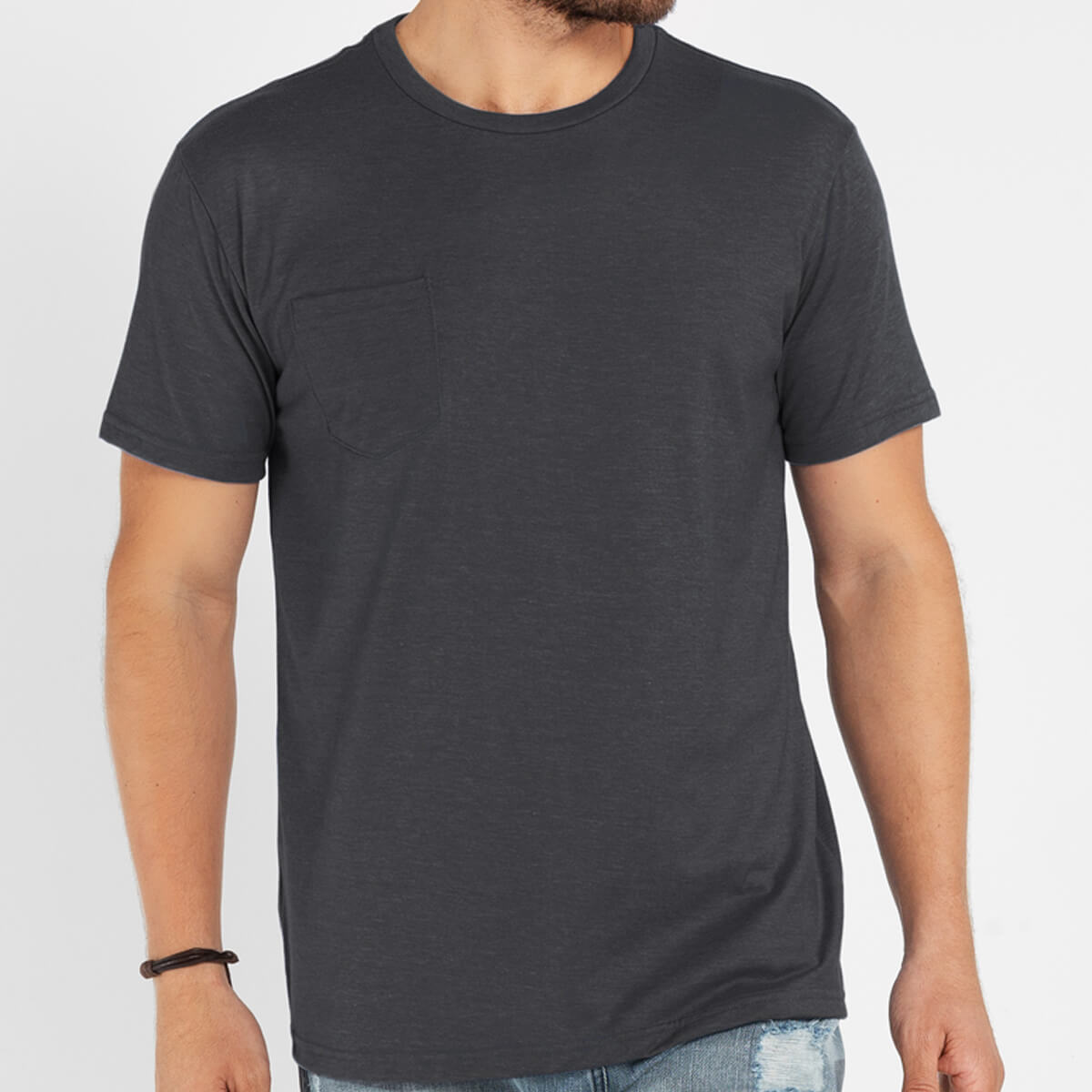 Camiseta Masculina Básica Estonada Premium Chumbo
