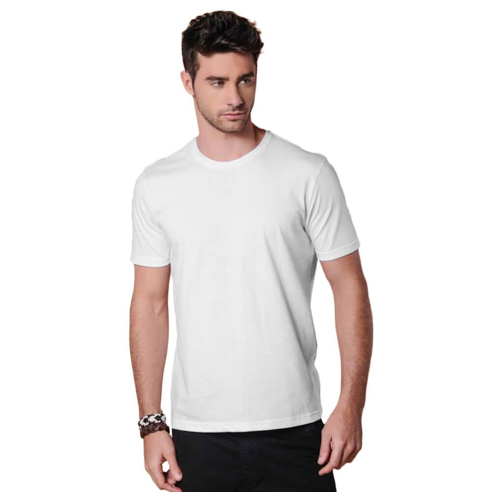 Camiseta Masculina Básica Gola Careca Branca
