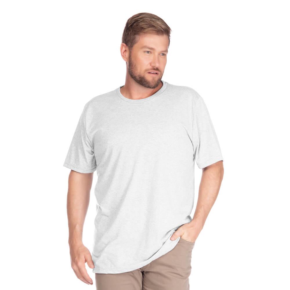 Camiseta Masculina Básica Gola Careca Plus Branca