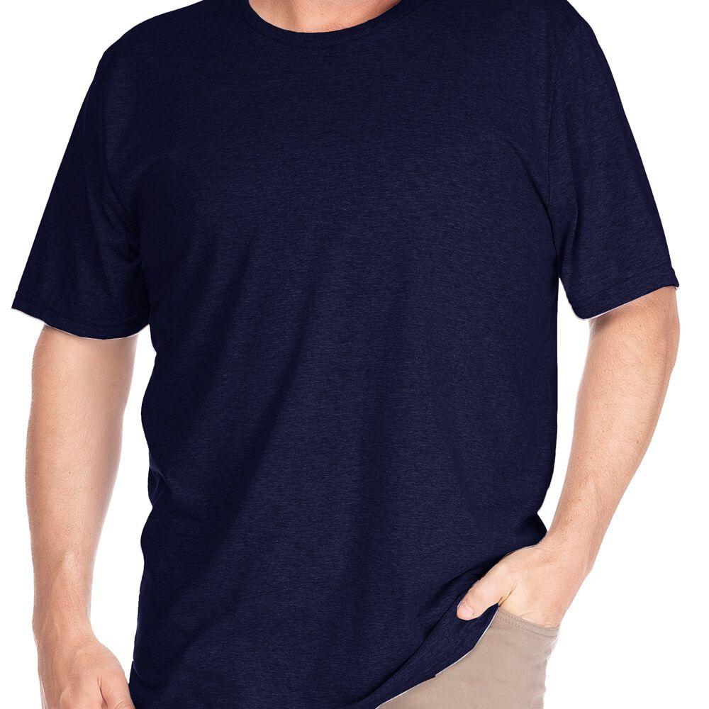 Camiseta Masculina Básica Gola Careca Plus Marinho