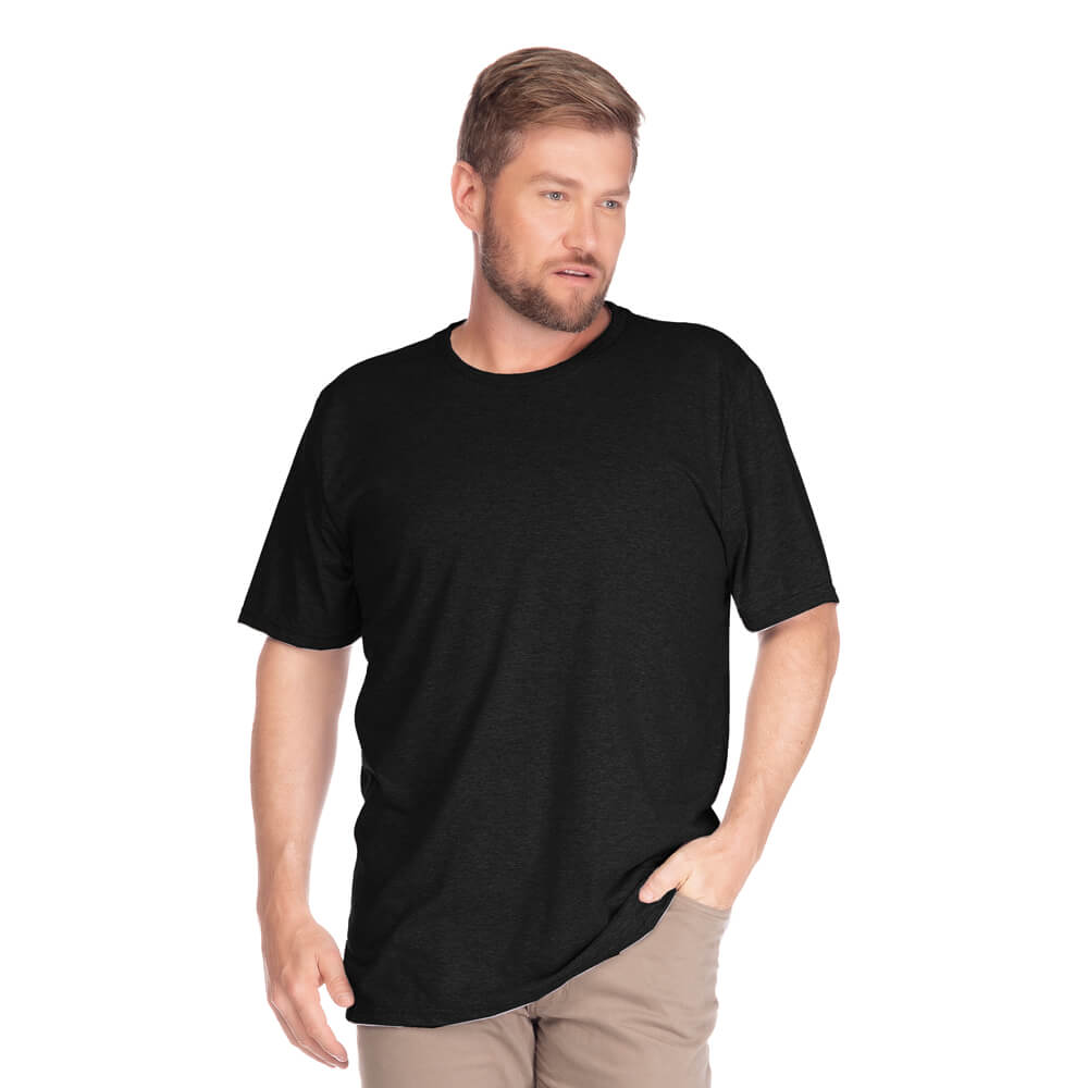 Camiseta Masculina Básica Gola Careca Plus Preta