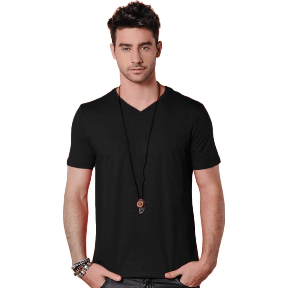 Camiseta Masculina Básica Gola V