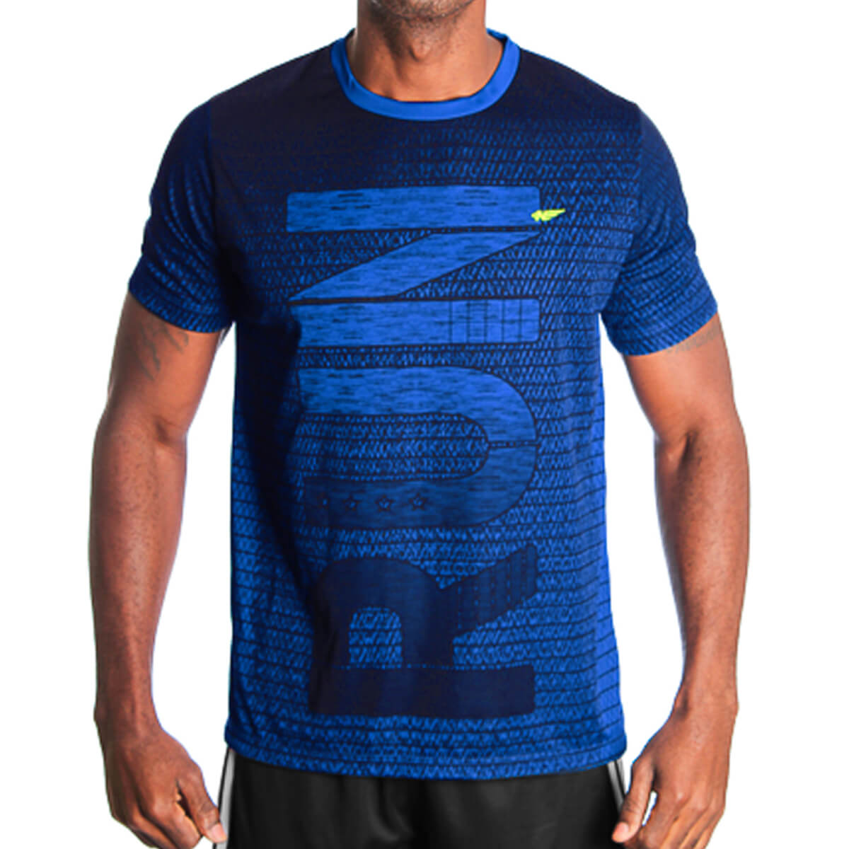 Camiseta Masculina Dry Run Azul