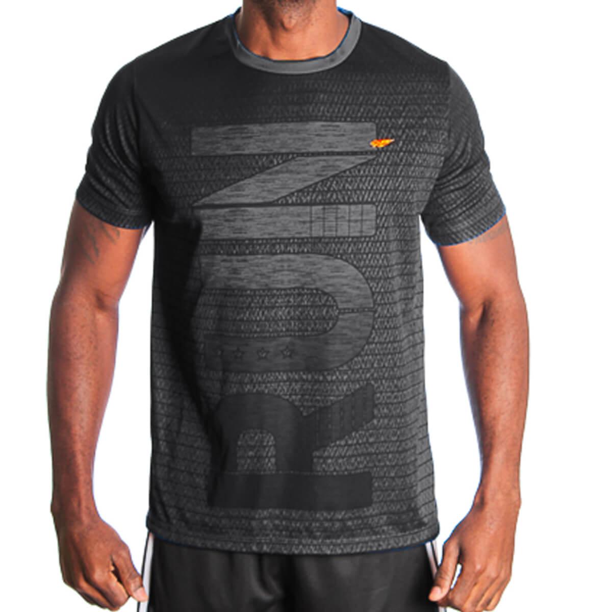 Camiseta Masculina Dry Run Preta