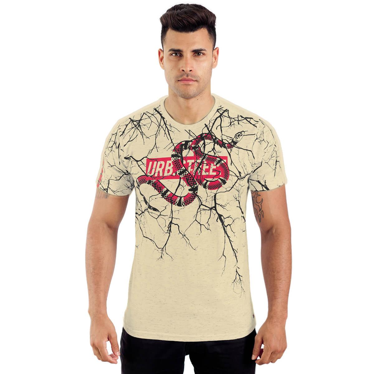 Camiseta Masculina Estampada Cobra