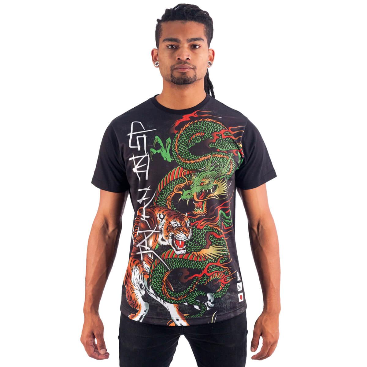 Camiseta Masculina Estampada Dragão