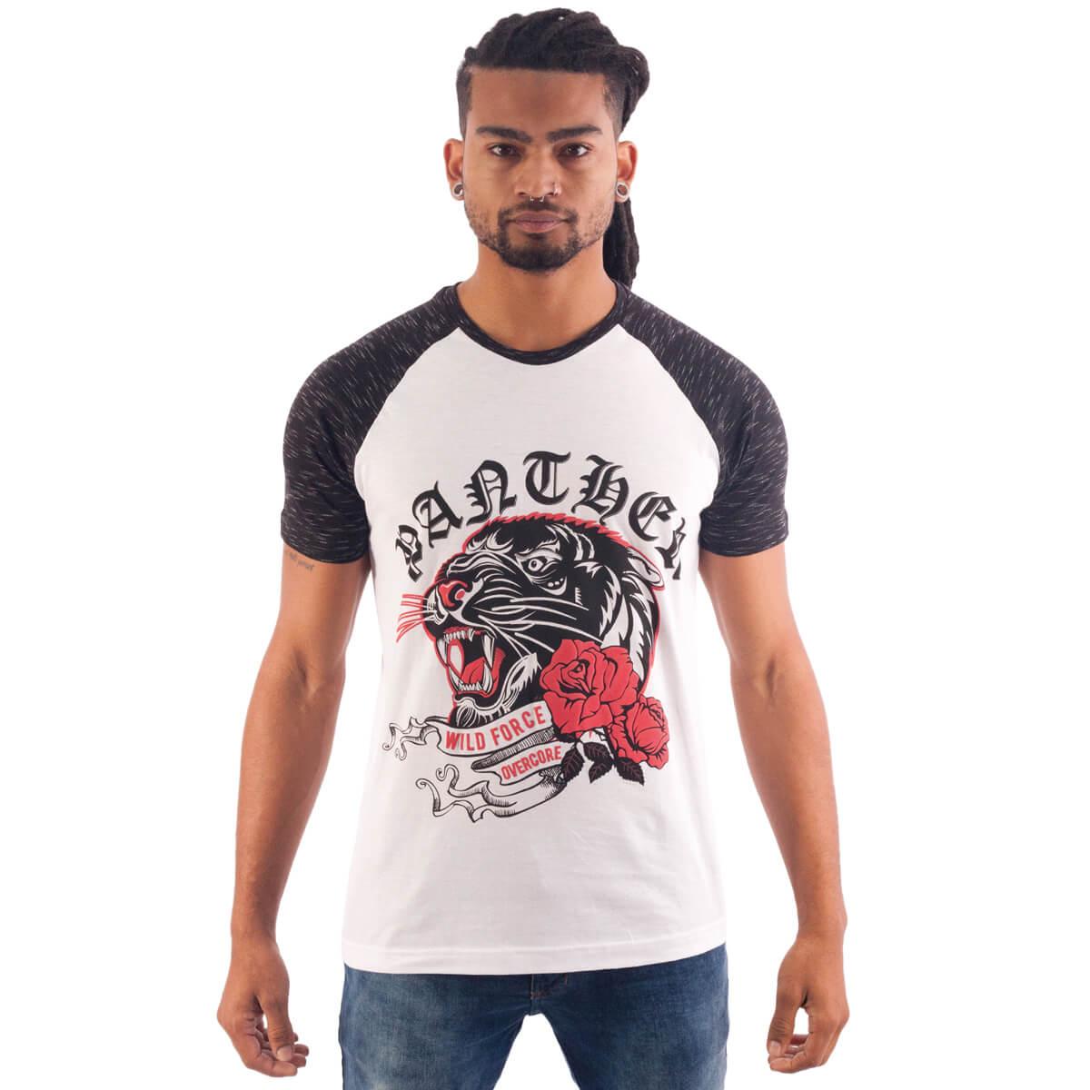 Camiseta Masculina Estampada Panther