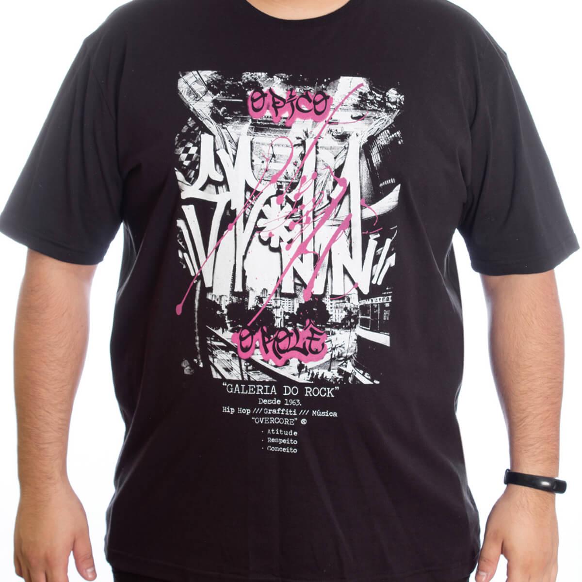 Camiseta Masculina Estampada Plus O Pico