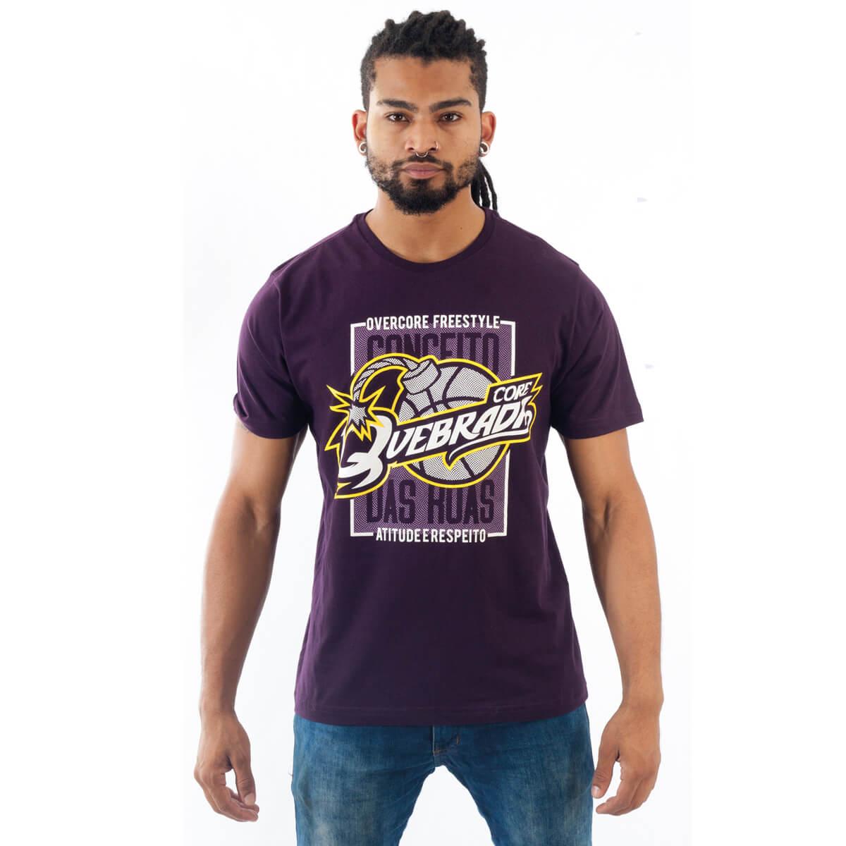Camiseta Masculina Estampada Quebrada