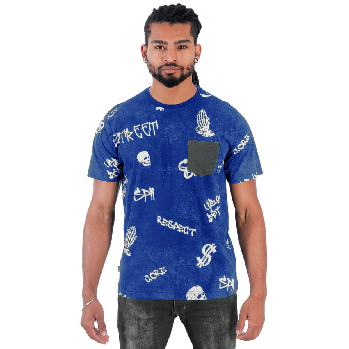 Camiseta Masculina Estampada Respect