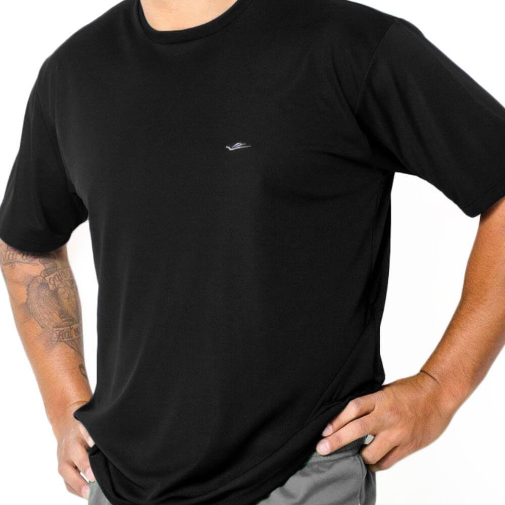 Camiseta Masculina Lisa Dryline Preta