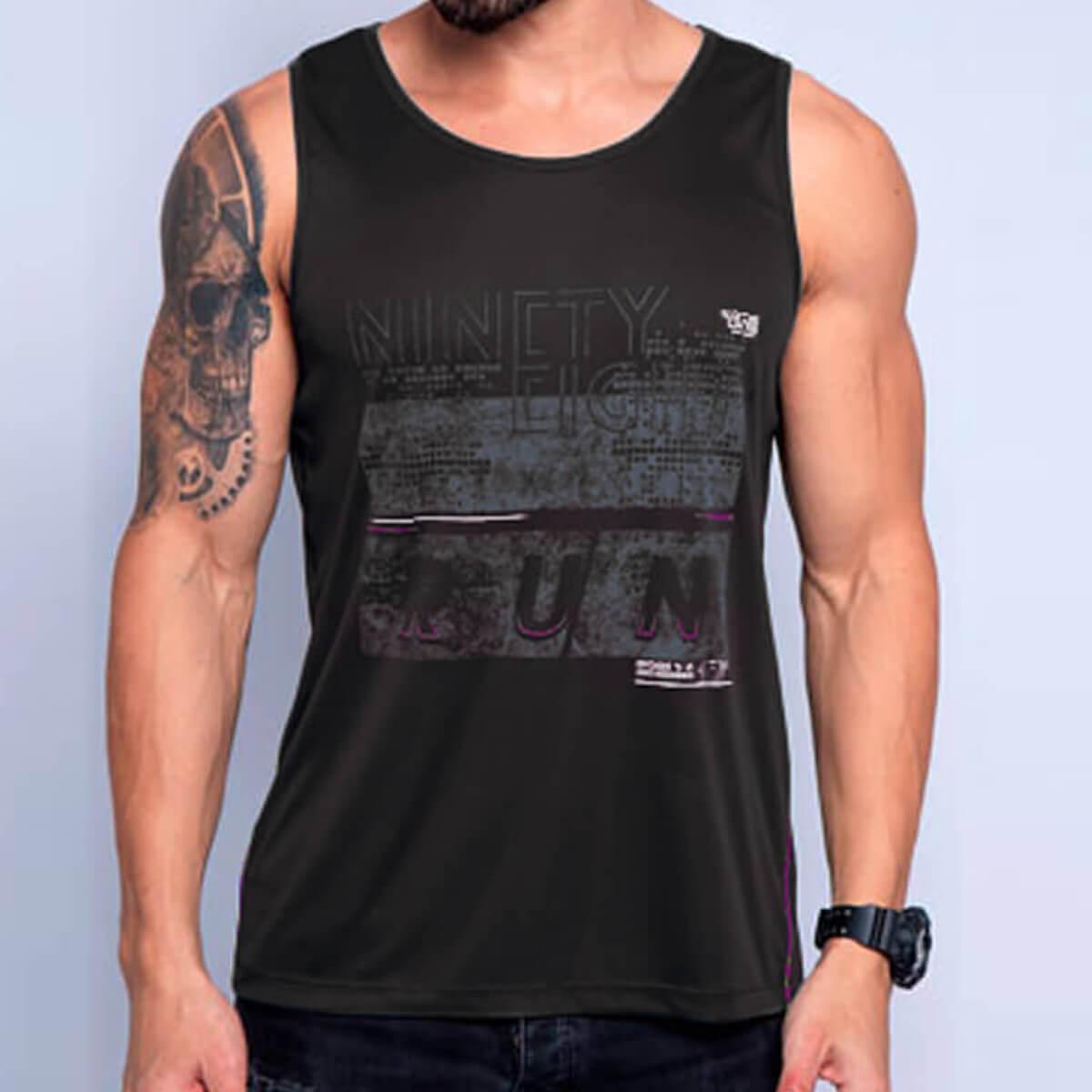 Camiseta Regata Masculina Dry Ninety Preta