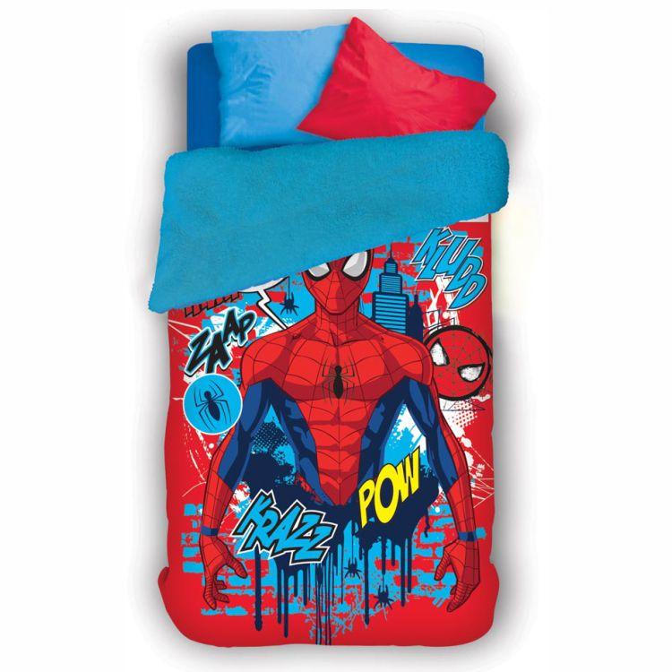 Coberdrom Infantil Homem Aranha Spiderman Lepper Dupla Face