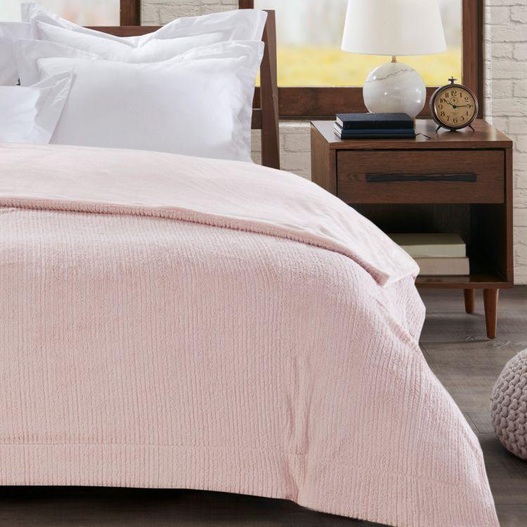 Cobertor Casal Home Design Ilford Rosa